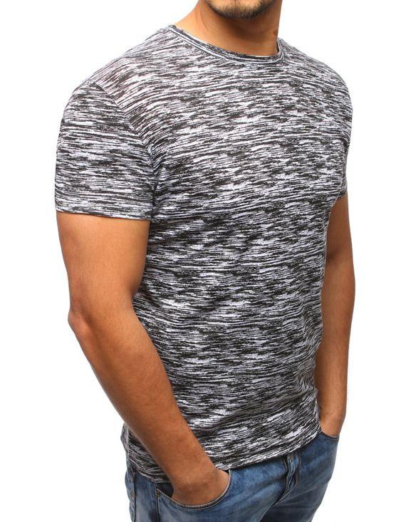 męska koszulka bawełniana szara